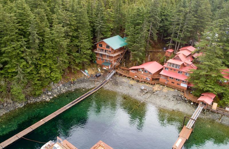 Exterior view of Elfin Cove Resort.