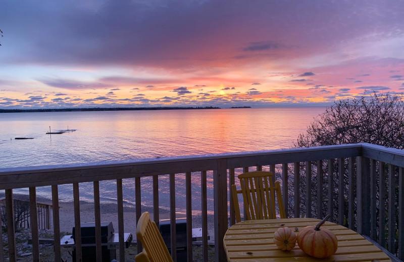 Guest balcony at Beachfront Inn.