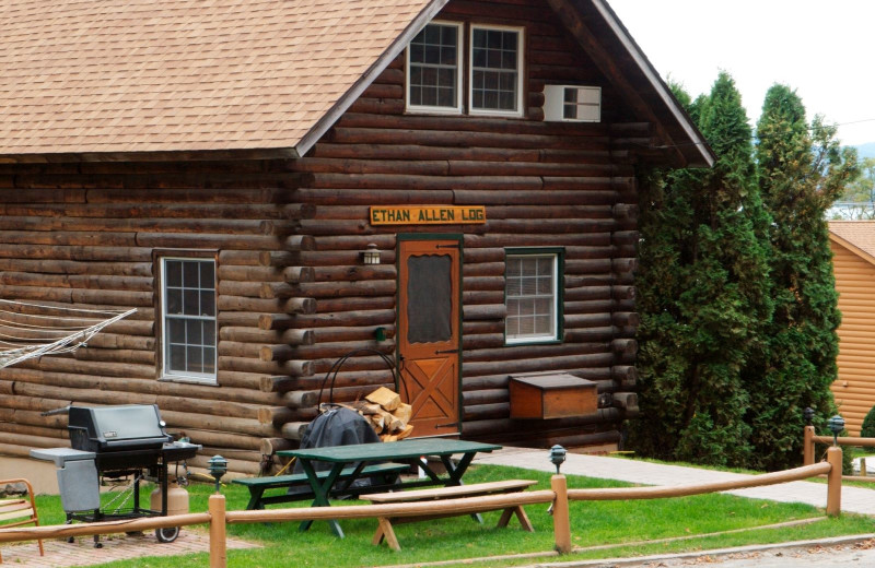 Cabin exterior at Trout House Village Resort.
