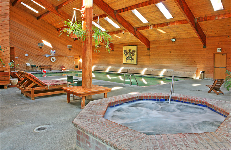 Indoor pool at Ocean Crest Resort.