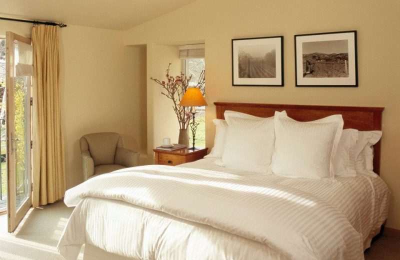 Guest bedroom at Inn at Southbridge.