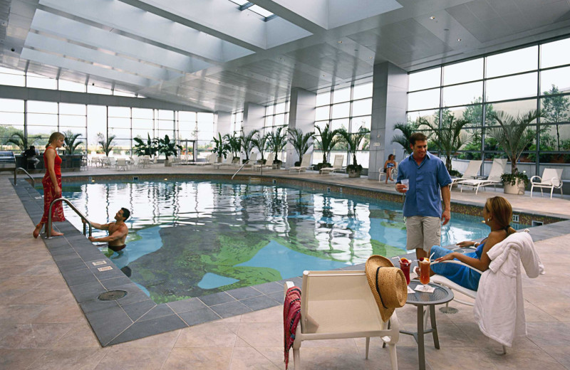 Indoor pool at Mohegan Sun.