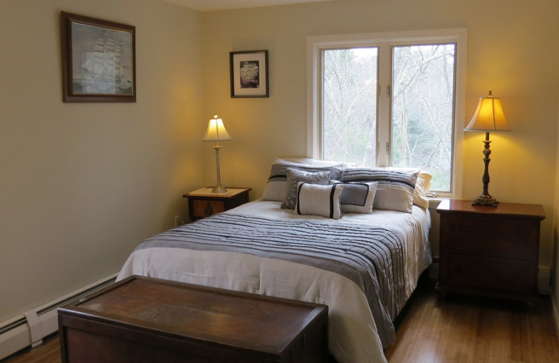 Rental bedroom at Re/Max on Island Vacation Rentals.