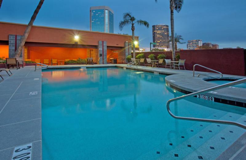 Outdoor pool at Ramada Phoenix.