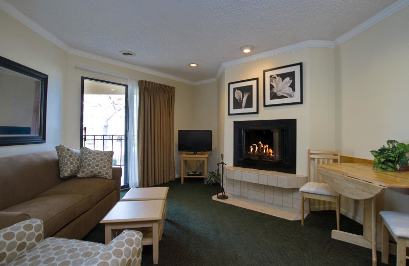Guest room at Weathervane Terrace Inn and Suites.