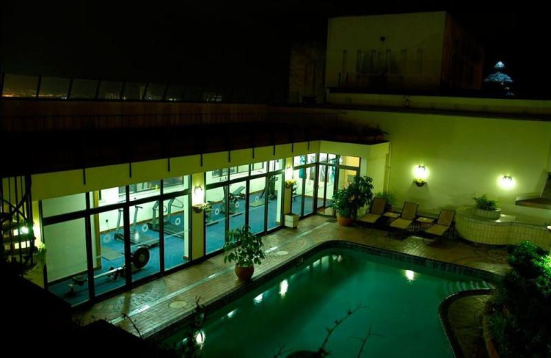 Outdoor pool at Royal Hotel.