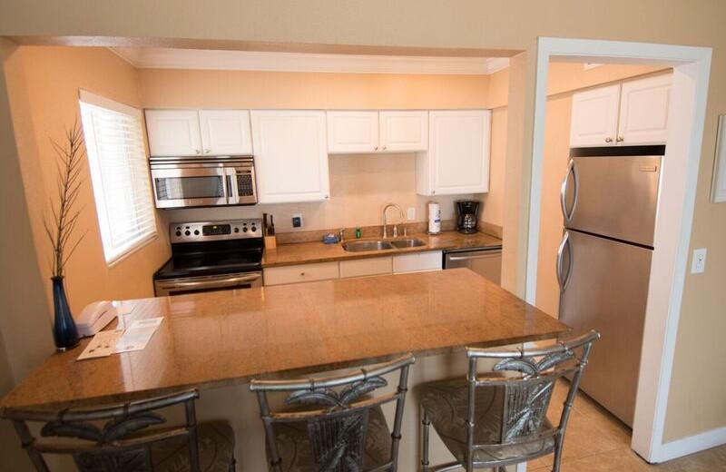 Guest kitchen at Anna Maria Island Inn.