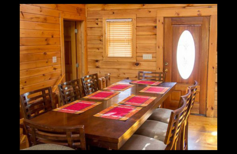 Cabin dining room at Mountain Shadows Resort.