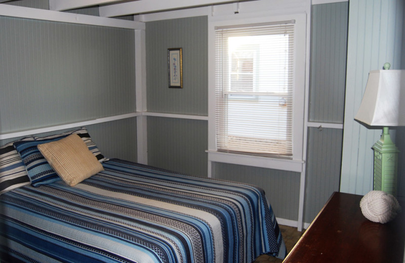 Cottage bedroom at Hawk's Nest Beach.
