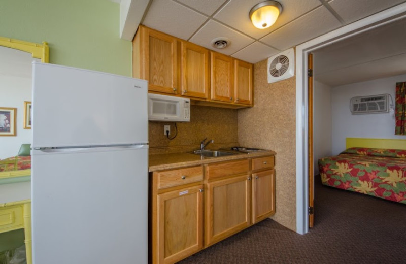 Guest kitchenette at Aquarius Motor Inn.