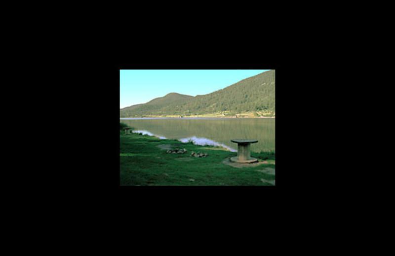 Camping at Monument Lake Resort.