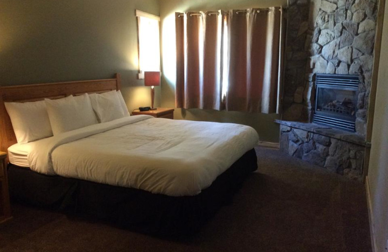 Guest room at Arrowhead Mountain Lodge.
