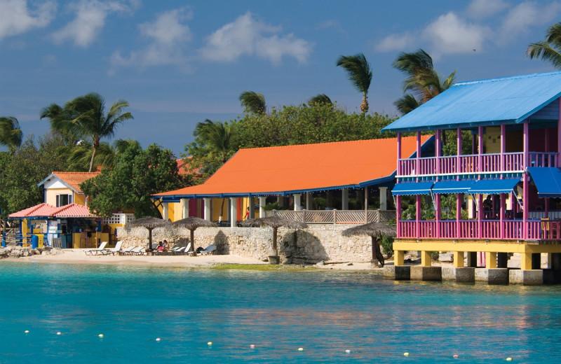 Exterior view of Divi Flamingo Beach Resort.