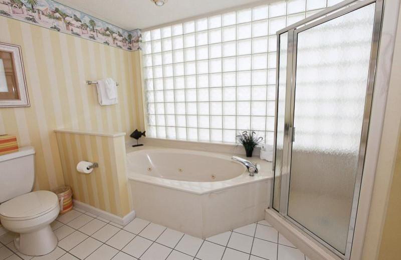 Rental bathroom at Sterling Sands Condominiums.