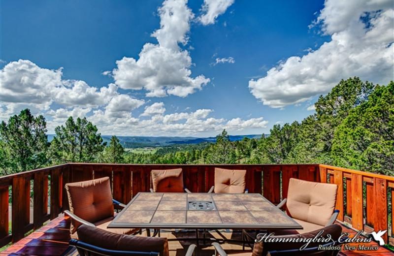 Private deck at Hummingbird Cabins - Bear Crossing Vacation Rental