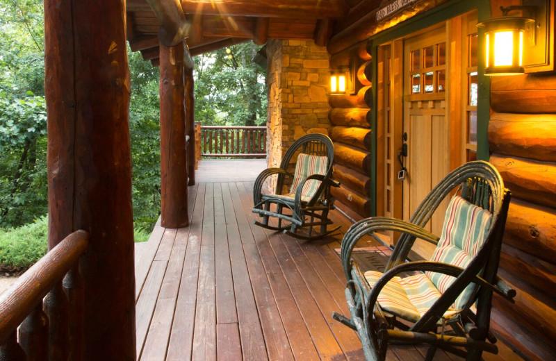 Rental porch at Smoky Mountain Getaways.