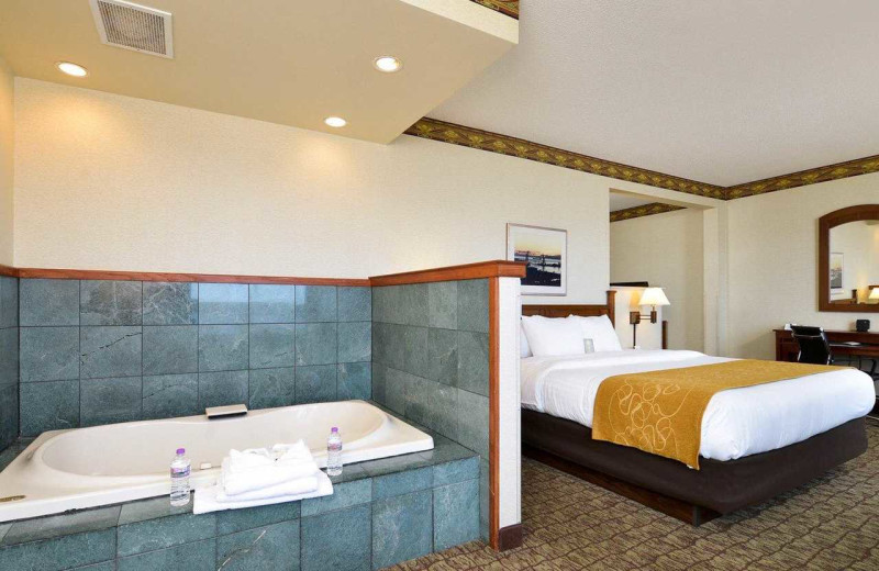 Guest room at Comfort Suites Canal Park.