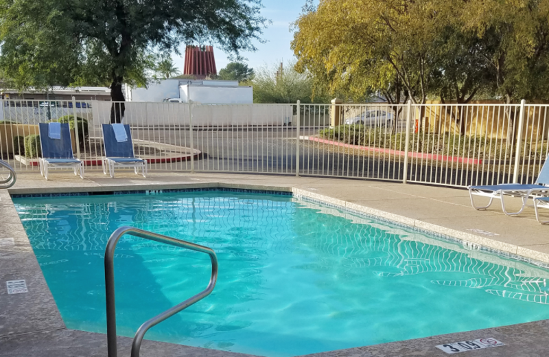 Outdoor pool at Extended Stay America Phoenix - Scottsdale - Old Town.
