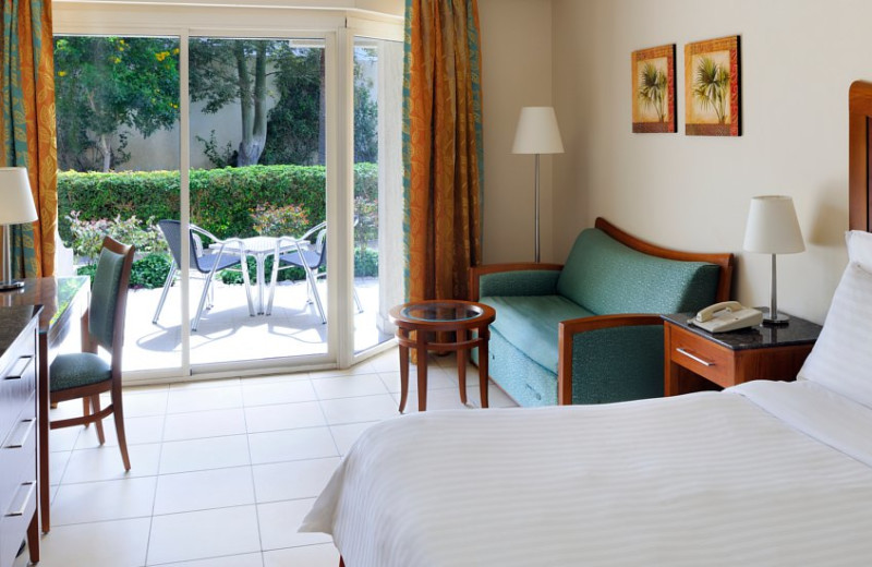 Guest room at Sharm El Sheikh Marriot Beach Resort.