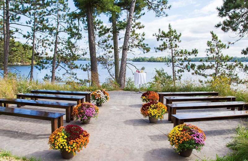 Wedding ceremony at White Eagle Resort.