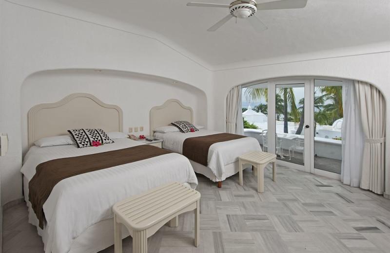 Guest room at Las Hadas Golf Resort and Marina.
