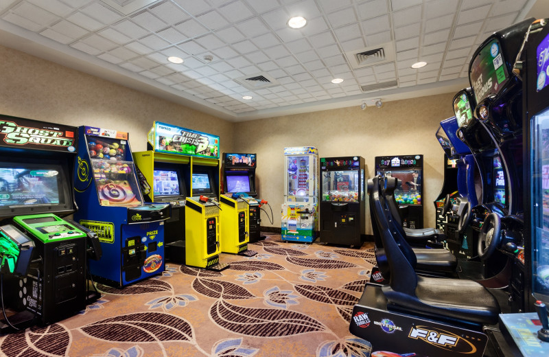 Arcade room at Holiday Inn Suites Ocean City.
