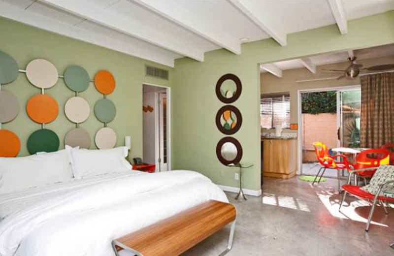 Suite bedroom at Century Palm Springs.
