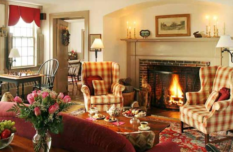 Fire place view at Rabbit Hill Inn.
