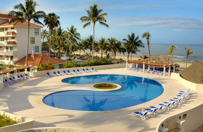 Outdoor pool at Royal Club Grand Nuevo Vallarta All Inclusive Resort.