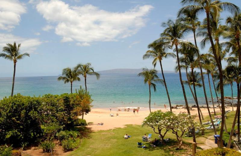 The beach at Mana Kai Maui.