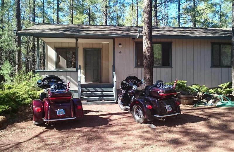 Cabin exterior at Buck Springs Resort.