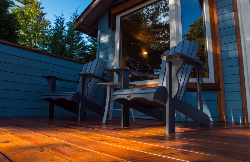 Guest porch at Snug Harbour Inn.