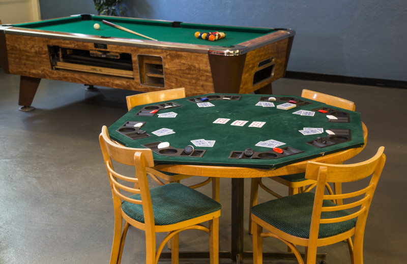 Poker table at Red Tree Lodge.
