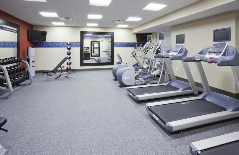 Fitness room at Hampton Inn Minneapolis Bloomington West.