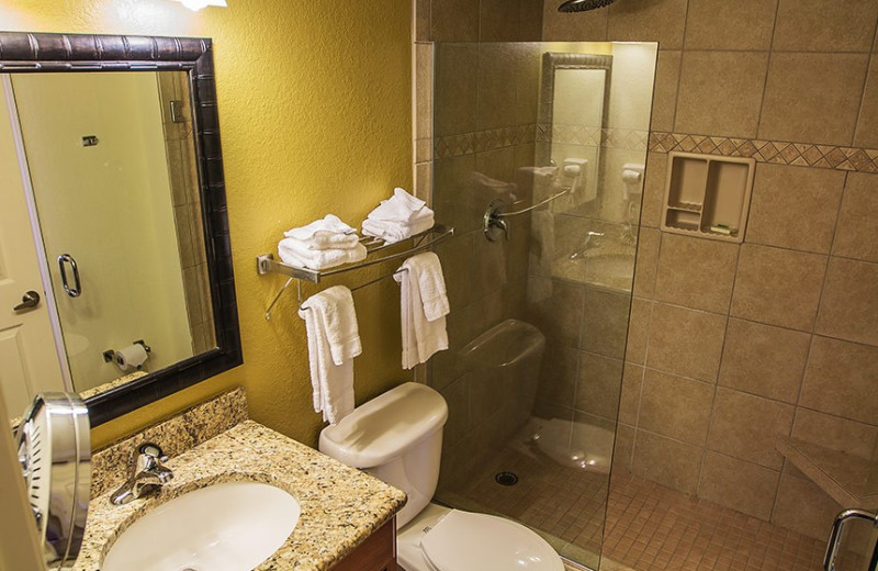 Guest bathroom at Westgate Lakes Resort & Spa.