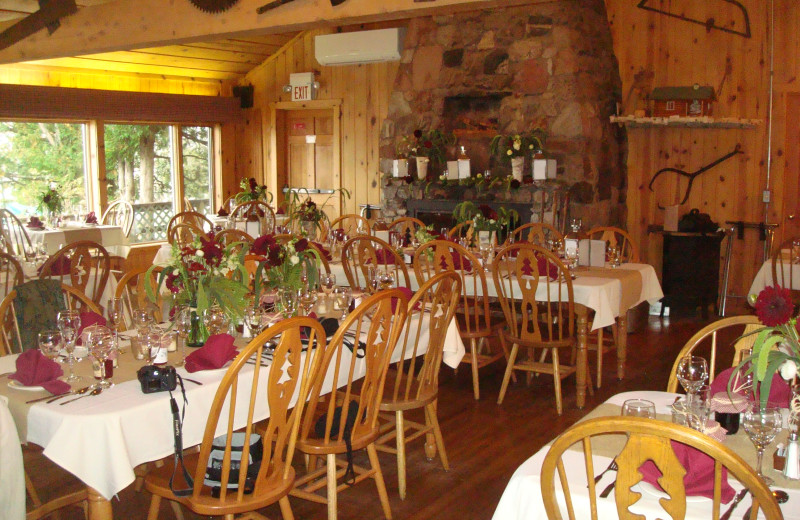 Dining at Gunflint Lodge.