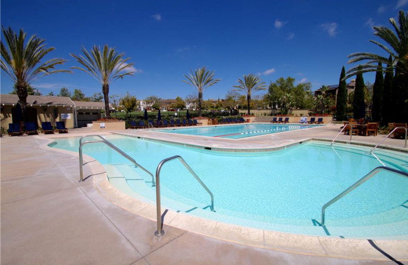 Rental outdoor pool at Vacation Rentals by McLain Properties.
