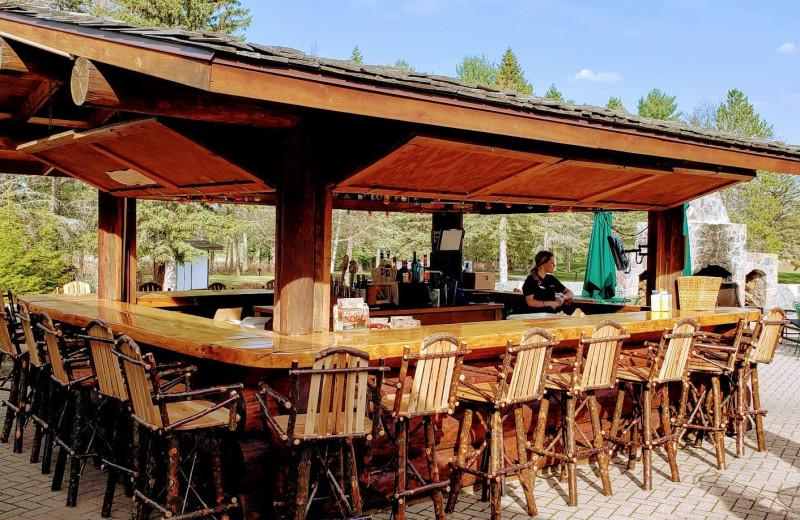Tiki bar at Garland Lodge and Resort.