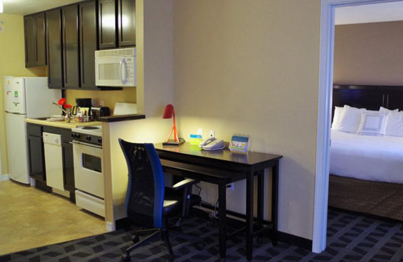 Guest suite at TownePlace Suites Joplin.