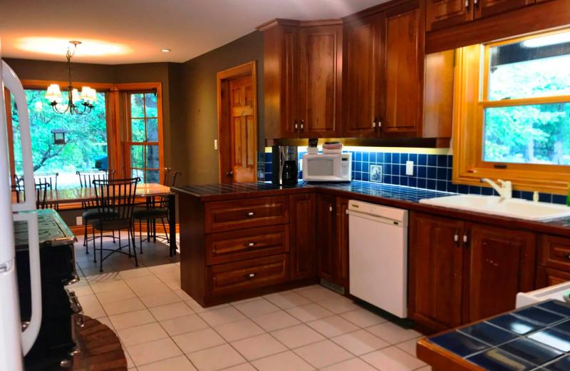 Cottage kitchen at Patterson Kaye Resort.