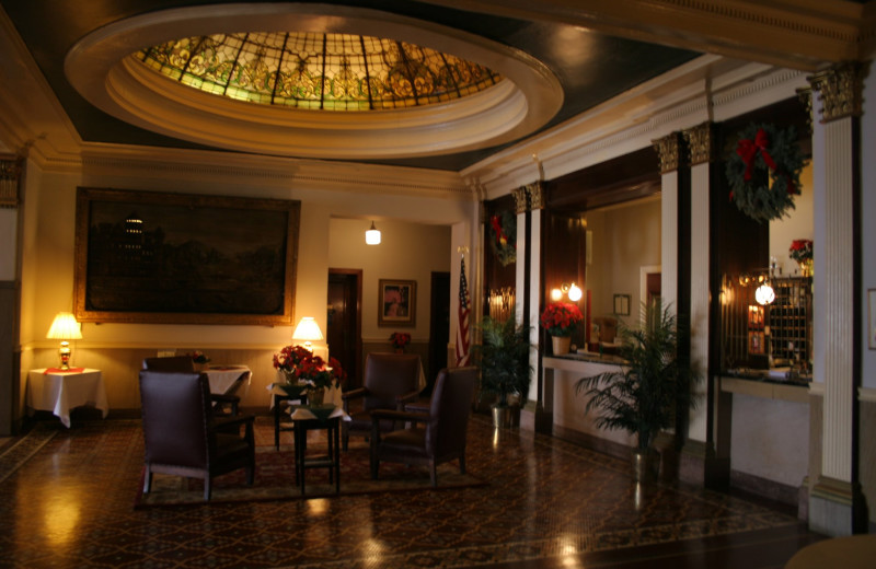 Lobby view at Hotel Savoy.