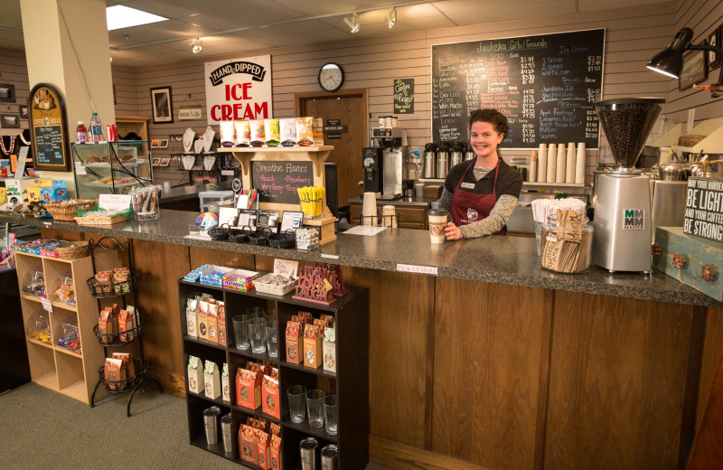 Junaluska Gifts & Grounds is located just across the street from The Terrace. It's a great place to find coffee, tea, smoothies, ice cream, souvenirs, gifts and more!