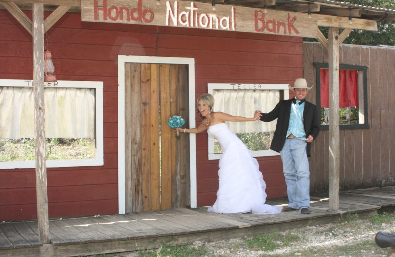 Wedding couple at Flying L Hill Country Resort & Conference Center.