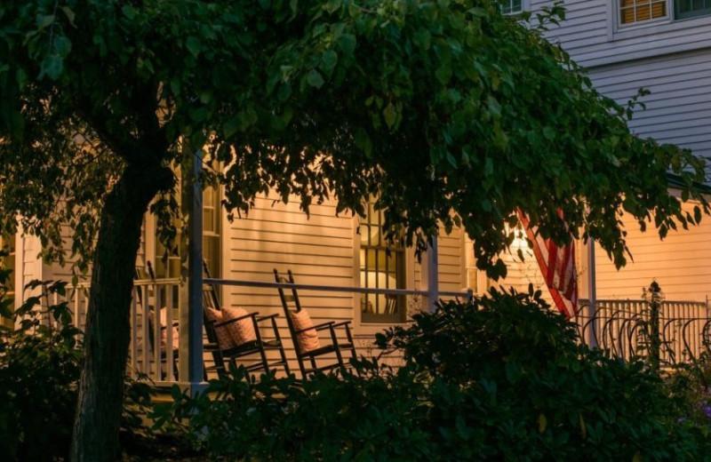 Porch at Four Columns Inn.