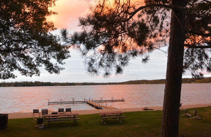 Sunset at Cragun's Resort and Hotel on Gull Lake.