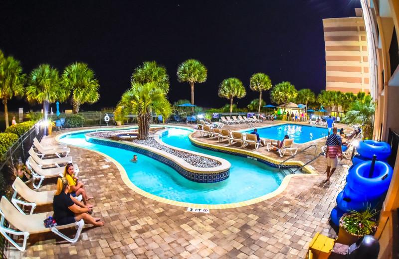 Pool at Sandcastle Oceanfront Resort at the Pavilion.