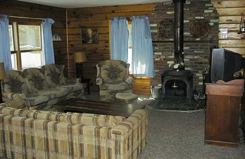 Guest Room at the Twin Pine Lodge