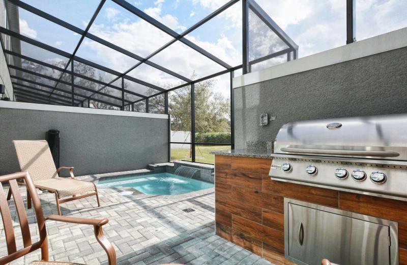Rental hot tub at Vacation Pool Homes.