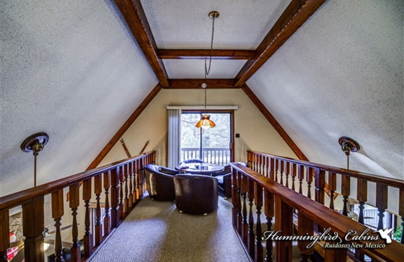 Loft area at Hummingbird Cabins - Timberline Townhouse Vacation Rental