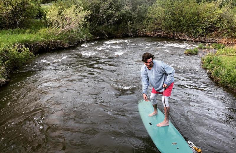Paddle board at Hardscrabble Ranch.